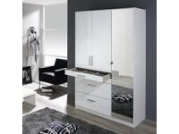 Hasting 3 Door Wardrobe In White Gloss
