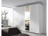Mirni 2 door slider in white and crystal white