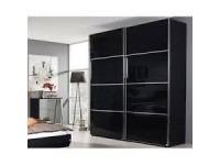 Celine Sliding Door robe in Black with Black Glass or Mirror Doors