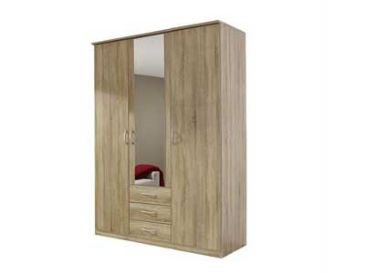 Benton 3 door combination wardrobe warehouse prestwich for Door 9 sonoma
