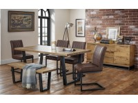 Brookfield Extn table 4 chairs and bench