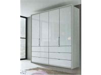 Erin 4 door 6 drawer robe in White