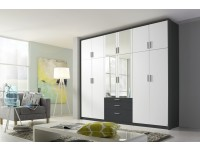 Hilton 6 door robe in White and Grey