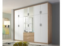 Hilton 6 door robe in White and Oak
