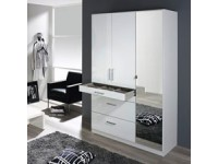 Hasting 3 Door Wardrobe In White Gloss