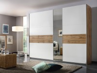 Korby Gliding door robe 218 cm Wotan Oak and White