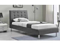 Lynx Charcoal fabric bed