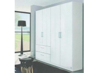Moray 4 door 2 mirror 2 drawer robe in white