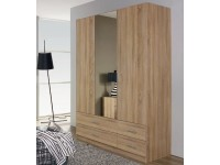 Quincy 3 door robe, 4 drawers Oak