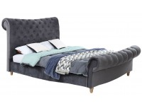 Slade Buttoned fabric bed