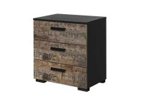 Sumner 3 drawer bedside