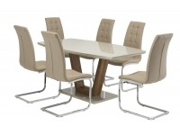 Ventura with Moray chairs in Latte