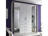 Wesley Hinged door robe in White and Stone Grey